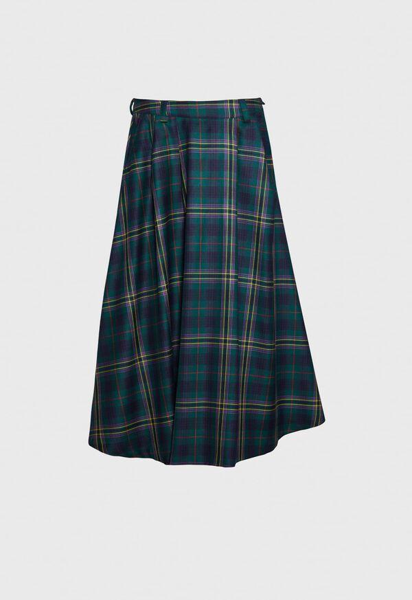 Tartan Overcheck Skirt