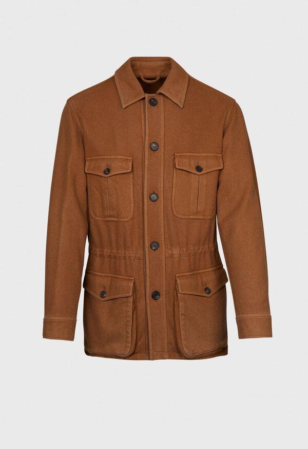 Garment Washed Cashmere Safari Jacket