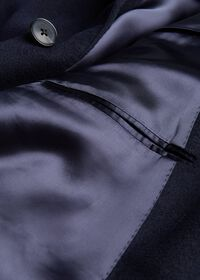 Navy Cashmere Classic Overcoat, thumbnail 3