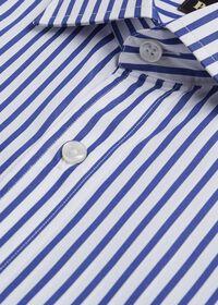 Slim Fit Blue Bold Bengal Stripe Dress Shirt, thumbnail 3