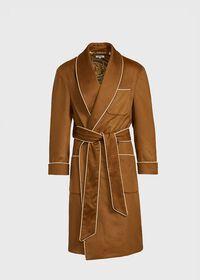 Dark Camel Cashmere Robe, thumbnail 1
