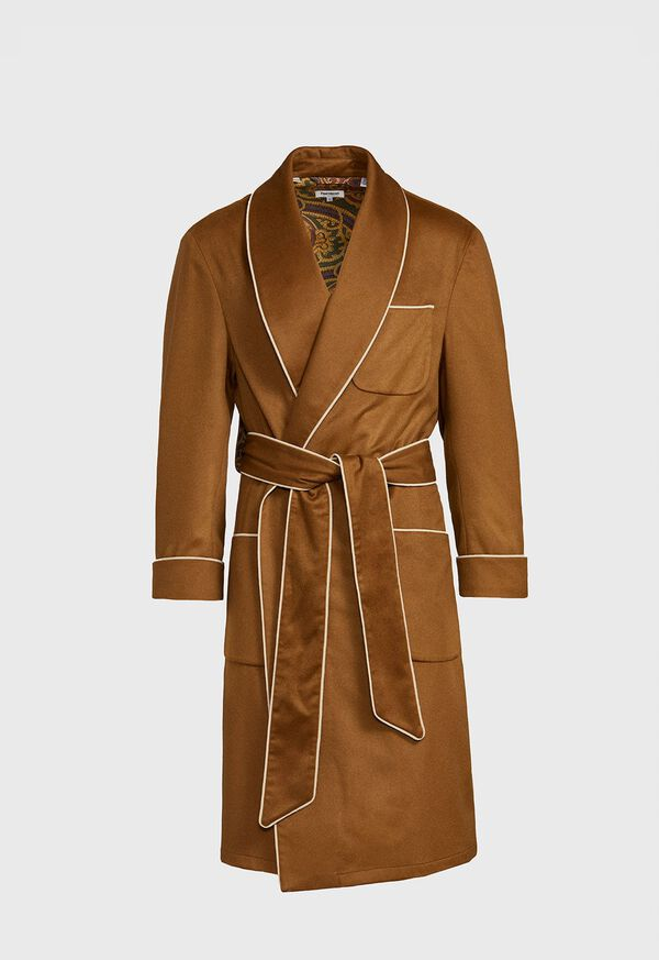 Dark Camel Cashmere Robe, image 1