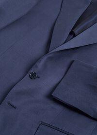 Navy solid Silk Blend Suit, thumbnail 2