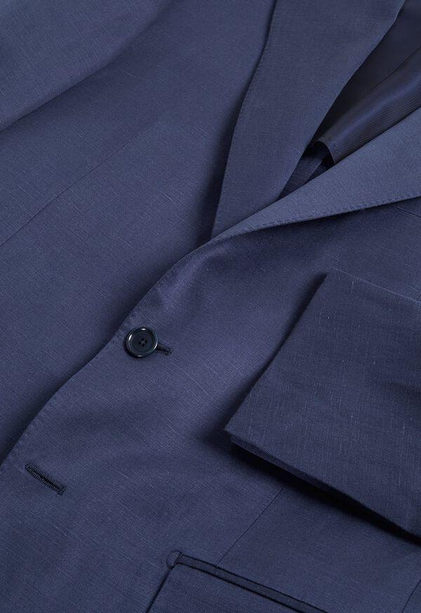 Navy solid Silk Blend Suit, image 2