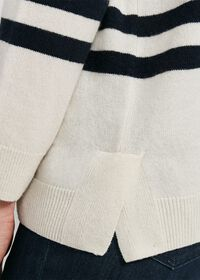 Striped Boatneck Cashmere Sweater, thumbnail 4