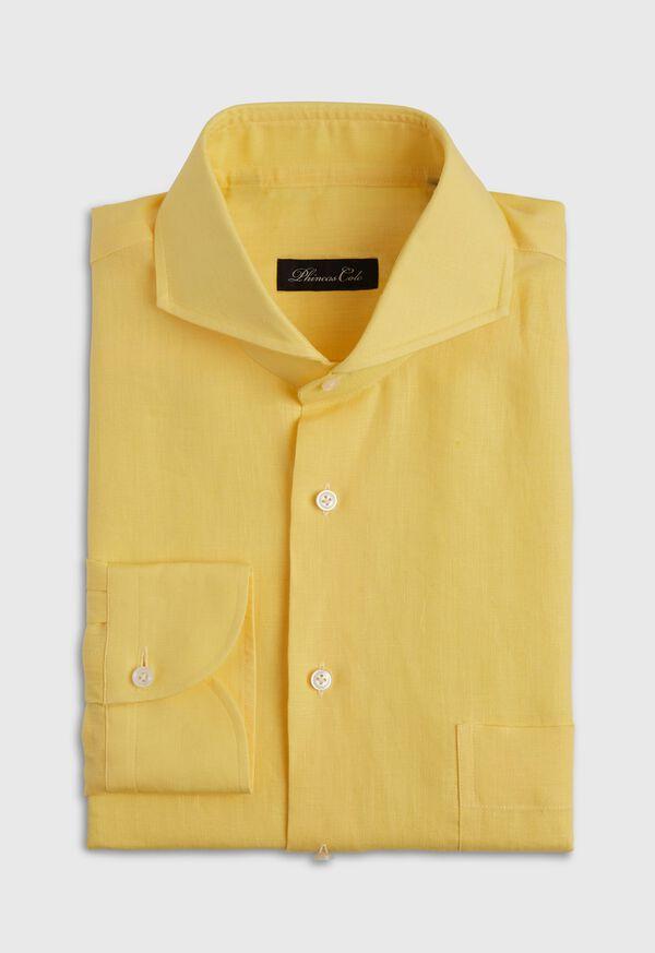 Yellow Long Sleeve Linen shirt, image 1