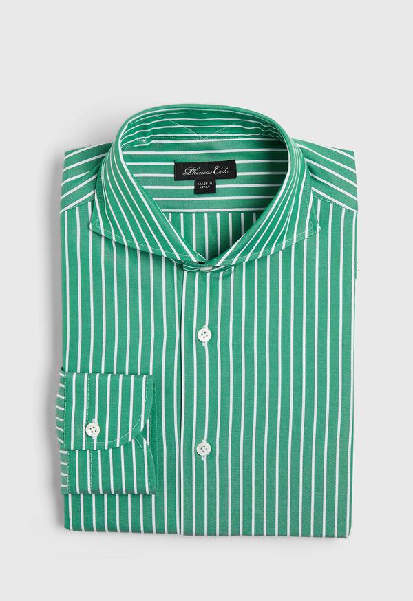Oxford Wide Stripe Dress Shirt, image 1
