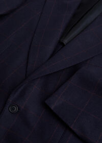 Navy and Rust Windowpane Suit, thumbnail 2