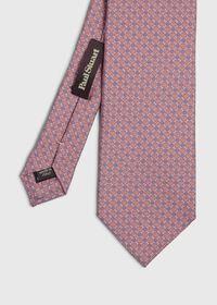 Micro Medallion Silk Tie, thumbnail 1