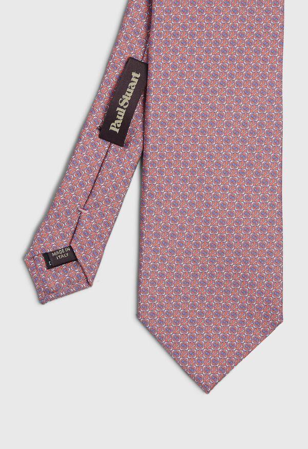 Micro Medallion Silk Tie, image 1