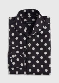 Black and White Dot Linen Shirt, thumbnail 1