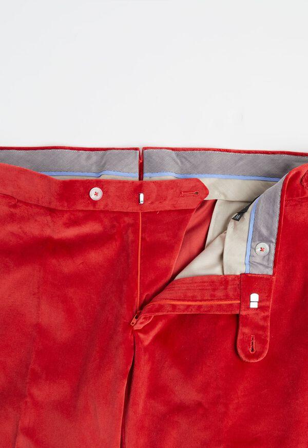 Slim Fit Cotton Velvet Pant, image 2