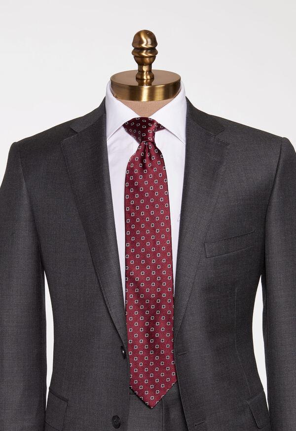 Small Medallion Silk Tie, image 2