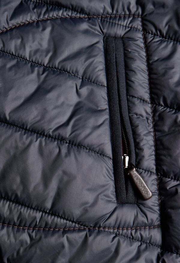 Nylon Button Front Quilted Vest, image 3