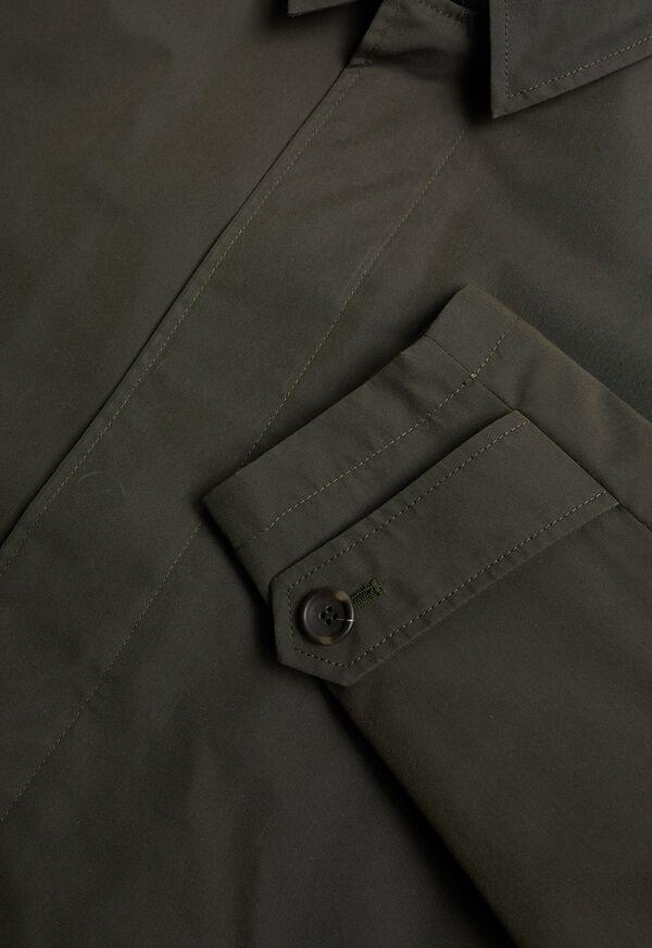 Solid Olive Raincoat, image 2