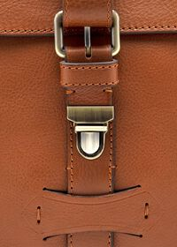 Bridle Leather Briefcase with Shoulder Strap, thumbnail 5