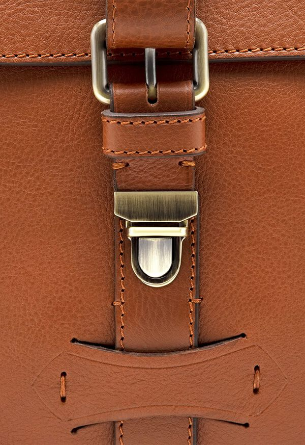 Bridle Leather Briefcase with Shoulder Strap, image 5