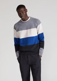 Block Stripe Wool Blend Sweater, thumbnail 3
