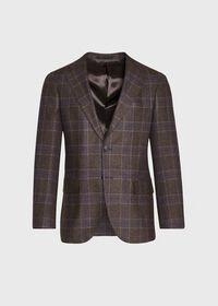 Brown and Lavender Plaid Jacket, thumbnail 1