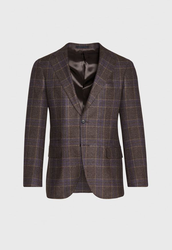 Brown and Lavender Plaid Jacket, image 1