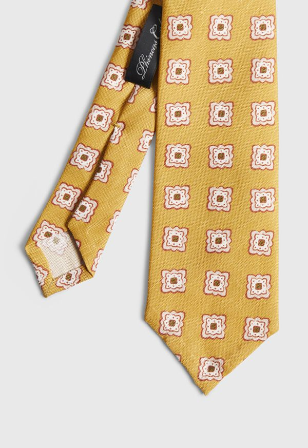 Printed Deco Square Medallion Tie, image 1