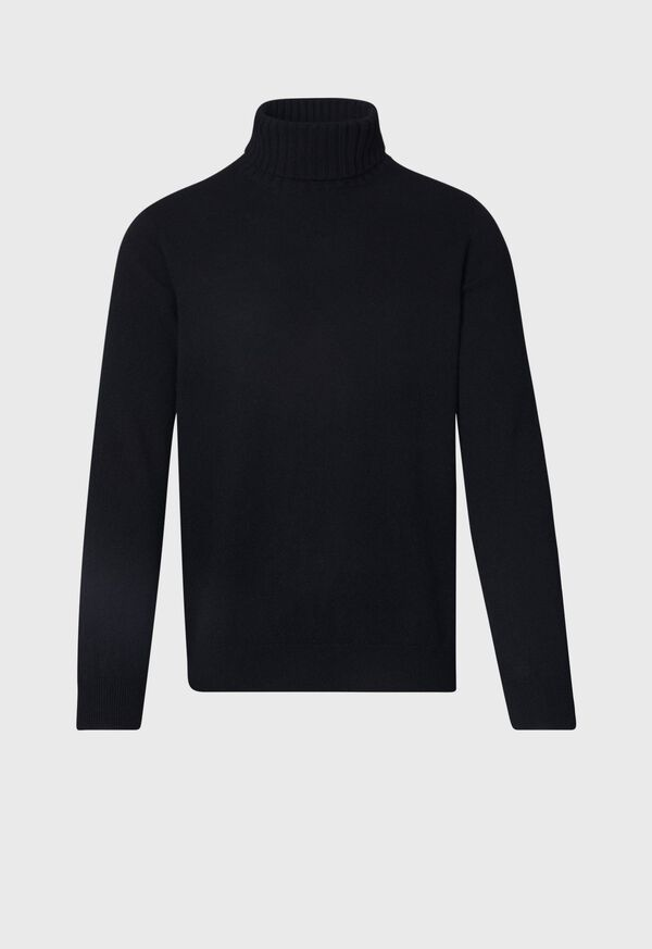 Cashmere Solid Color Turtleneck Sweater