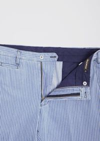 Blue & White Stripe Cotton Pant, thumbnail 2