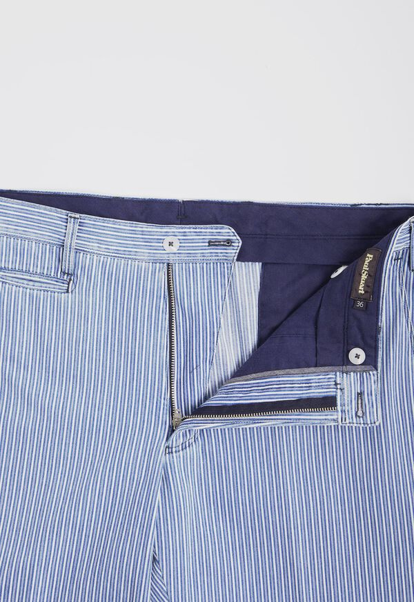 Blue & White Stripe Cotton Pant, image 2