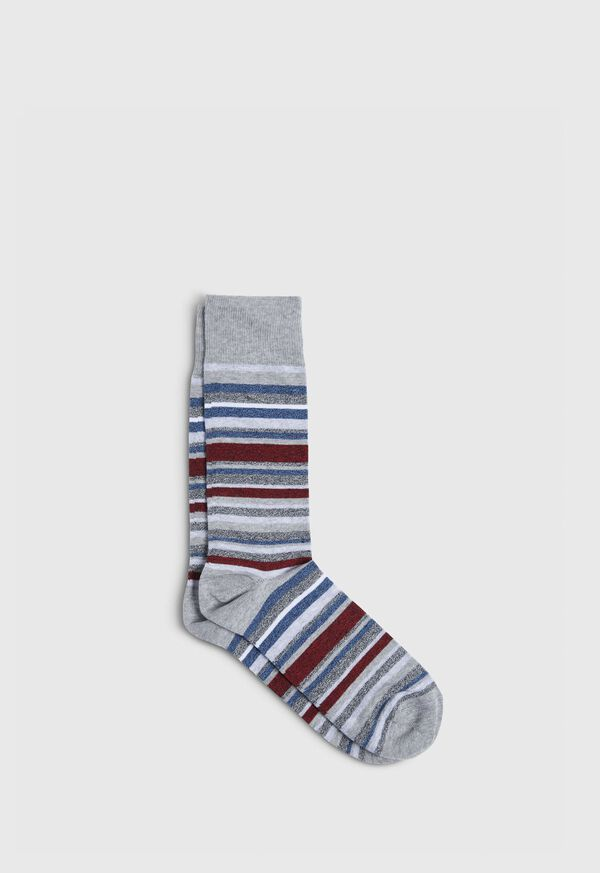 Melange Fine Stripe Crew Sock, image 1