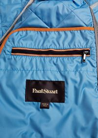 Quilted Nylon Vest with Wool Trim, thumbnail 3