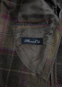 Olive and Burgundy Plaid Wool Sport Jacket, thumbnail 4