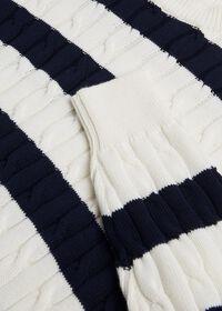 Cotton Cable & Stripe Crewneck Sweater, thumbnail 2