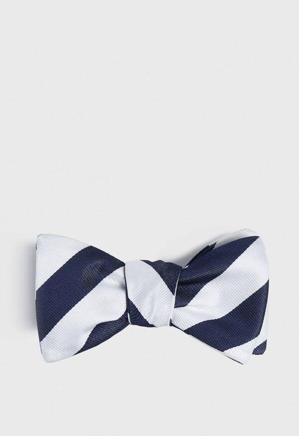 Regimental Stripe Bow Tie, image 1