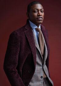 Phillip Fit Mink Plaid Wool Suit, thumbnail 2