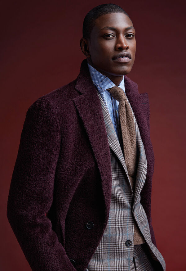 Phillip Fit Mink Plaid Wool Suit, image 2