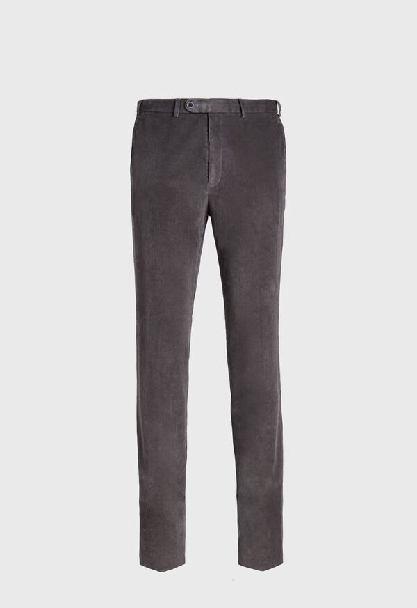 Supima Pin Cord Cotton Stretch Trouser, image 1