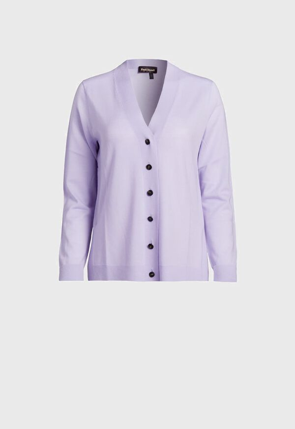 Lightweight Wool Button Front Cardigan, image 1