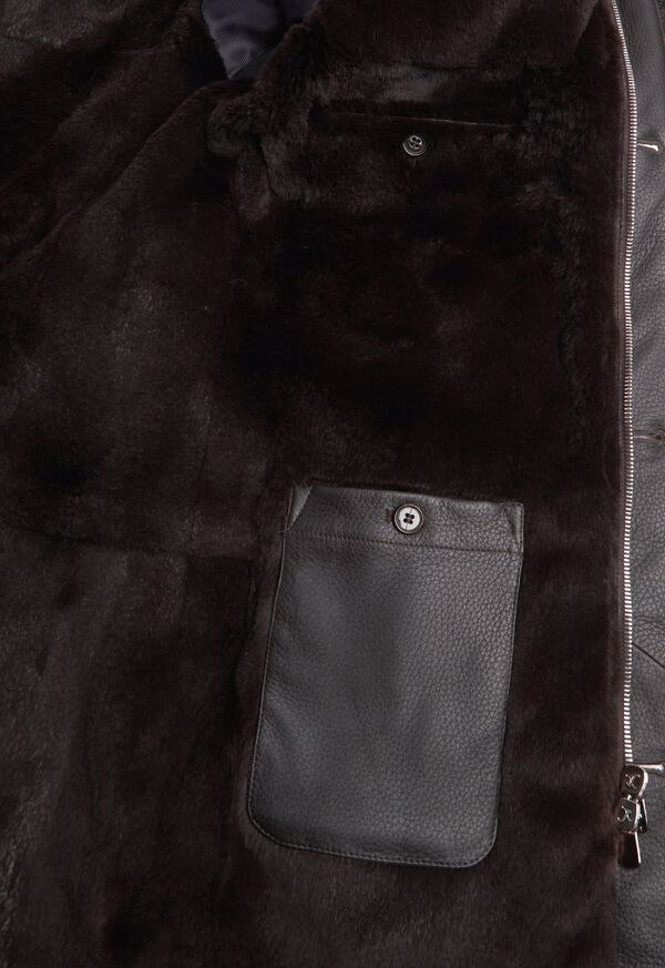 Fur Hooded Parka Coat, image 3