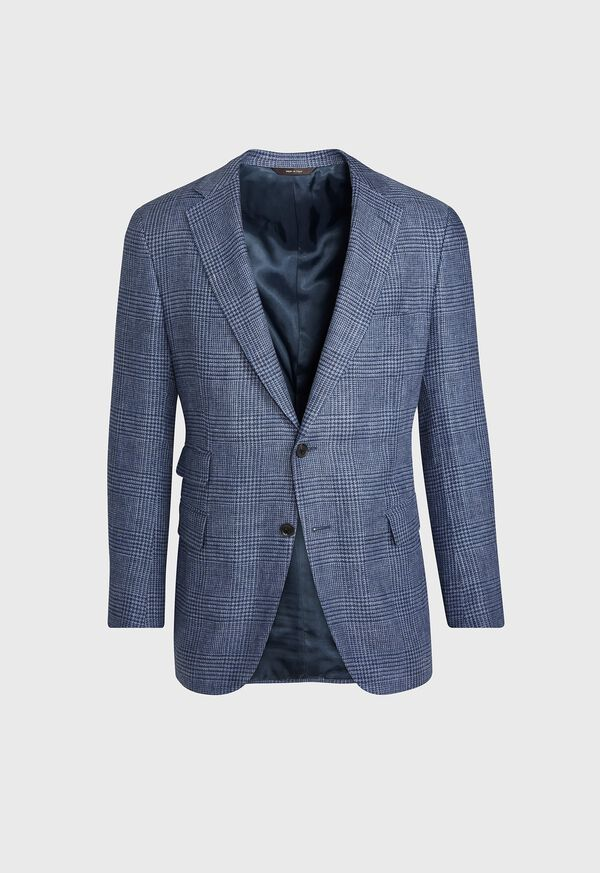 Plaid Blue Sport Jacket