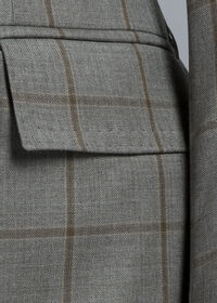 Wool Windowpane Suit, thumbnail 4