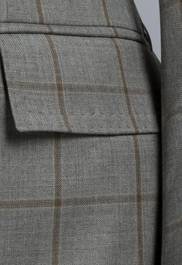 Wool Windowpane Suit, image 4
