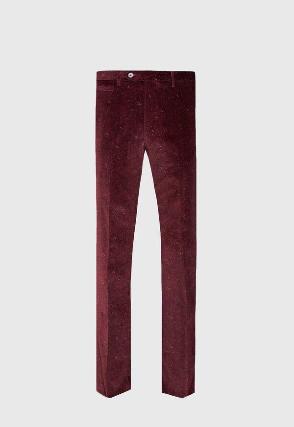 Plum Shetland Print Velvet Pant