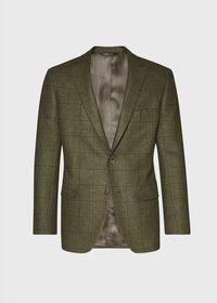 Green with Burgundy Windowpane Sport Jacket, thumbnail 1