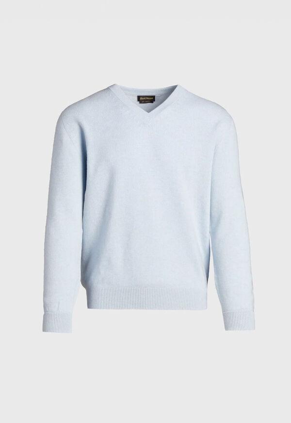 Scottish Cashmere V-Neck Sweater, image 7