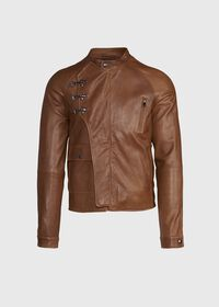 Nappa Leather Jacket with Clips, thumbnail 1