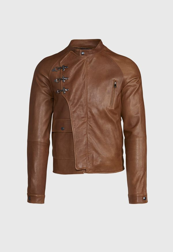 Nappa Leather Jacket with Clips, image 1