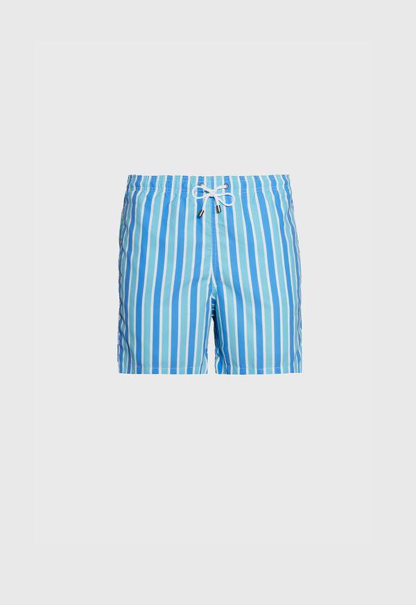 Wide Stripe Printed Swim Trunk, image 1