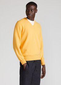 Scottish Cashmere V-Neck Sweater, thumbnail 25