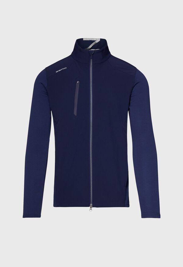 Melange Knit Full Zip Jacket, image 1