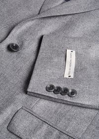 Grey Solid Soft Jacket, thumbnail 2